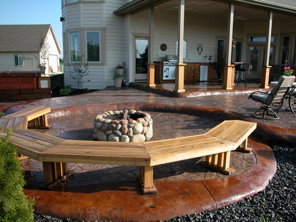boise idaho stamped concrete stained concrete patio design and